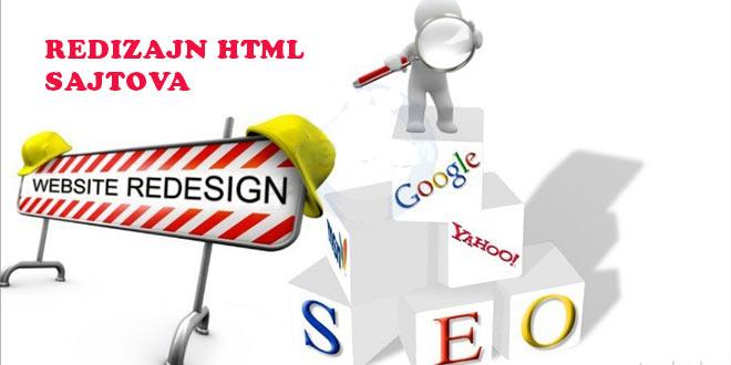 Redizajn HTML sajtova