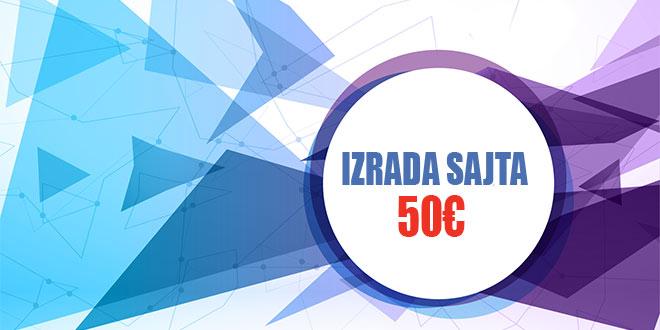 Izrada sajta 50€
